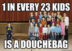 1 in every 23 kids is a douchebag - michigan sucks - quickmeme