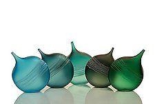 """Tipped Bottle Ensemble by David Royce (Art Glass Bottles) (14"""" x 38"""")"""