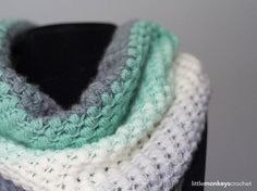 Lion Brand's Mandala Yarn gives this textured cowl its gorgeous gradient look.