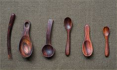 polished wooden spoons