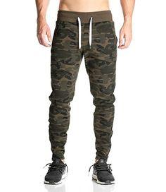 b77c4a4bdfe4 Amazon.com  Akery Men s Gym Pants Bodybuilding Workout Running Jogger  Sweatpants  Clothing
