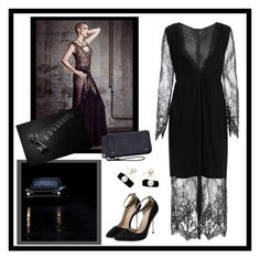 """See Thru Lace Maxi Dress"" by carola-corana ❤ liked on Polyvore featuring Vanity Fair"