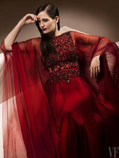 Cannes 2014 Portrait: Eva Green wears ELIE SAAB Haute Couture Fall Winter 2013-14 for Vanity Fair by Fabrice Dall'Anese