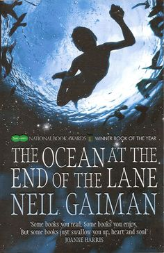 The Ocean at the End of the Lane by Neil Gaiman is a fantasy novel. A bit of an odd book all told. #NeilGaiman