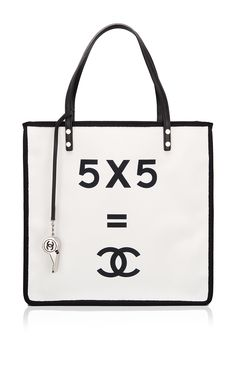 "Madison Avenue Couture Runway Edition Chanel ""5 x 5 = CC"" Small Shopping Tote - Preorder now on Moda Operandi"