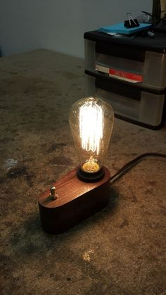 Edison Lamp in 3 HoursBeautiful modern vintage cherry  5 Bulb Edison Lamp  120 volt  . The Dapper Llama Menlo Park Lamps. Home Design Ideas
