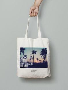 """Tote bag """"Hello I love you"""""""