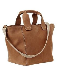 I think cognac is my new statement color.  And beverage.  Gap.  #purse #bag #leather #affordable