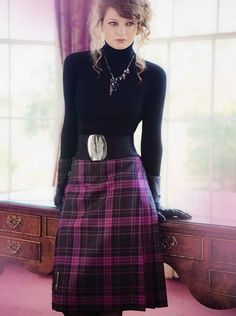For a great range of Traditional Tartan Skirts choose Kinloch Anderson, experts in kilted skirts. We offer various styles of tartan kilted skirts. Tartan Clothing, Scottish Clothing, Celtic Clothing, Tartan Fashion, Scottish Plaid, Tartan Kilt, Fru Fru, Plaid Skirts, Tartan Skirt Outfit