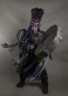 Larisa Kuzhuget, a Tuvan shamaness of the Adyg Eeren Shamanic Society