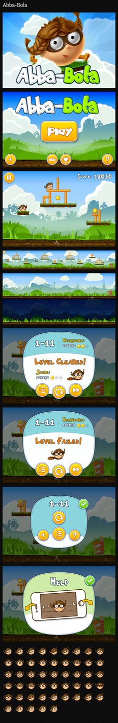 Abba Bola - fuuny game for mobile devices #abbabola #game #iphone #ipad #character #lepshey