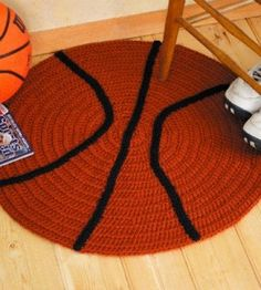 Any athlete or fan will have a ball with these sporty rugs! They're real winners as accents in a rec room, child's bedroom or den.