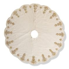 Chandelier Beaded Tree Skirt - Frontgate $595 http://www.frontgate.com/chandelier-beaded-tree-skirt/holiday-decor/christmas-tree-skirts/555835