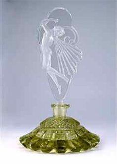 1920's Czech Perfume Bottle Butterfly Girl
