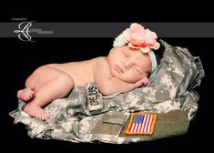 military newborn photo. I am so doing this when my little baby comes into this world! Proud army mommy!