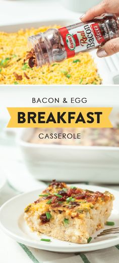 You can never have too many breakfast dishes to try out during the holiday season—especially when they include HORMEL® Bacon Pieces! With 100% real bacon, cheddar cheese, hash browns, and fresh veggies, this recipe for Bacon and Egg Breakfast Casserole boasts everything from bold flavors to quick make-ahead prep. Entertaining house guests has never been easier—or more delicious! Sponsored by HORMEL® Bacon Toppings.