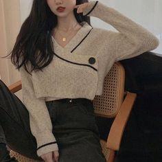Korean Girl Fashion, Ulzzang Fashion, Korean Street Fashion, Kpop Fashion Outfits, Korean Outfits, Girly Outfits, Cute Casual Outfits, Chic Outfits, Korean Fashion Styles