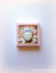 """Toile miniature décorative série """" Songes de fleurs """" n°95 : Accessoires de maison par jademiel-etincelles"""