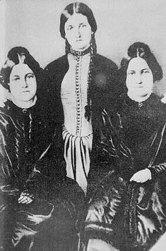 The Fox Sisters  In 1848, two girls in the Fox family living in Hydesville, New York, reported strange knocking sounds in their bedroom at night. On March 31, some time after the family began hearing the strange noises throughout the house, Katherine - then twelve - spoke aloud to the unseen noisemaker, challenging him (it?) to a game - she would snap her fingers a number of times, then the invisible visitor