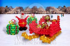 Santa's Sleigh | Accademia del Palloncino Italiano Christmas Balloons, Christmas Ornaments, Santa, Holiday Decor, Xmas, Christmas Jewelry, Christmas Decorations, Christmas Decor