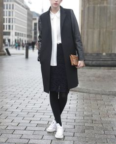 Sofranni Finesse | white high tops with black tights