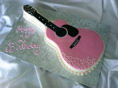 Pink Guitar Cake