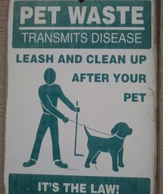 Pet waste risks, laws and misconceptions.