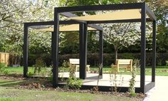 The wooden pergola is a good solution to add beauty to your garden. If you are not ready to spend thousands of dollars for building a cozy pergola then you may devise new strategies of trying out something different so that you can re Pergola Cost, Vinyl Pergola, Modern Pergola, Pergola Swing, Deck With Pergola, Outdoor Pergola, Covered Pergola, Backyard Pergola, Pergola Shade