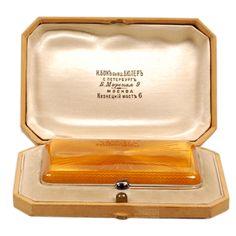 BOK Guilloche Enamel Cigarette Case Russia Late 19th Century