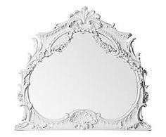 Miroir résine et verre, blanc - 103*97
