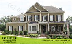 Garrell Associates,Inc. Edenton 01171, Front Elevation, Farmhouse Style House Plans, Southern Style House Plans (4,691 s.f.) Design by Michael W. Garrell