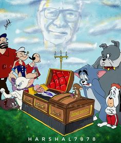 25 Artists Pay Respect To The Late Gene Deitch, The Illustrator Of Tom & Jerry And Popeye Tom Et Jerry, Tom And Jerry Cartoon, Jack Kirby, Animated Cartoons, Looney Tunes, Cartoon Wallpaper, Cartoon Characters, Cartoon Crossovers, My Childhood
