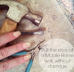 Taking Strips off Mobile Home walls Without Damage