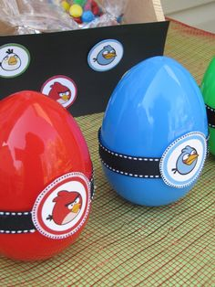 Angry Bird party favors.