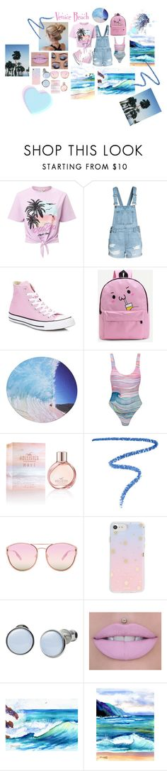 """""""Venice Beach"""" by pumpkinspice-187 ❤ liked on Polyvore featuring Miss Selfridge, Converse, WithChic, Mara Hoffman, Hollister Co., Marc Jacobs, Quay, Sonix, Skagen and Hanalei"""
