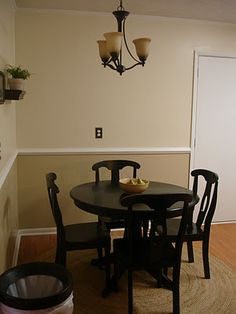 Inspiration for wall colors with chair rail for living room & kitchen