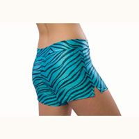 Custom Color Pizzazz Zebra Glitter Shorts from Cheerleading Company #zebraprint
