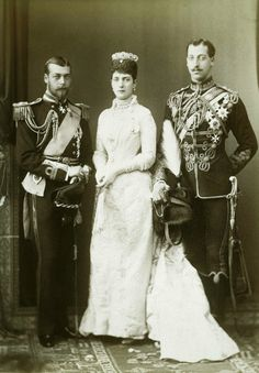 Alexandra with George and Eddy