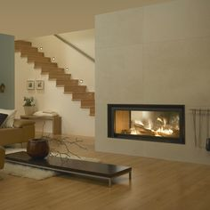 Fireplace Inserts, Fireplace Ideas, Herd, Barbacoa, Foyer, Sweet Home, Stairs, Living Room, House