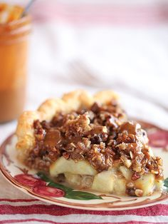 Caramel Apple Pie with a crumble crust is a new family fave | FoodieCrush.com @Heidi | FoodieCrush from the new @Ree Drummond | The Pioneer Woman cookbook