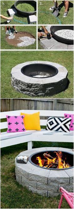 DIY Backyard Firepit in 4 Easy Steps.