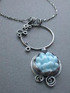 pale blue bump single pendant