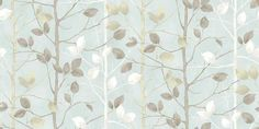 Woodland Duck Egg (630700) - Arthouse Wallpapers - A delicate, misty woodland scene, with vertical branches of leaves - creating a stripe effect.  Available in several colours, shown in the duck egg. Please request sample for true colour match.