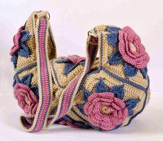 Bag Lady Pinspiration! Outstanding Crochet: $ Pattern: http://www.irishcrochetlab.com/#!product/prd3/1673187425/granny-square-flower-bag .  ☀CQ #crochet #bags #totes  http://www.pinterest.com/CoronaQueen/crochet-bags-totes-purses-cases-etc-corona/
