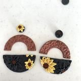 Black Sunflower Collection – Leafy Originals Studs, Dangles, Bronze, Symbols, Sterling Silver, The Originals, How To Make, Inspiration, Collection