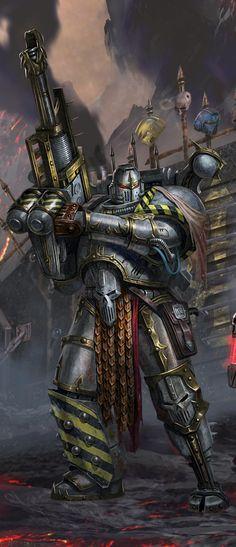 The art of Warhammer 40000 : Iron Warrior by Diego Gisbert Llorens Warhammer 40k Memes, Warhammer Art, Warhammer Fantasy, Warhammer 40000, Eternal Crusade, Science Fiction, Geek Art, Space Marine, Sci Fi Art
