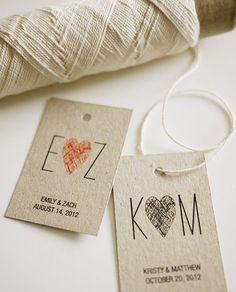 Initials Monogram  Personalized Wedding Favor by 3EggsDesignShop