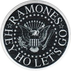 Ramones- Hey Ho Let's Go embroidered patch (ep479)