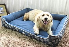 Jasonwell Rectangle Pet Heavy Duty Whole Bed  Bed Cover for Cats and DogsPuppy PetsDogs Bed with Removable Washable Denim Cover XXL >>> Find out more about the great product at the image link.(This is an Amazon affiliate link and I receive a commission for the sales)