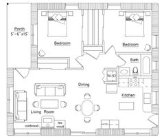 Cordwood house floorplan (click to enlarge)